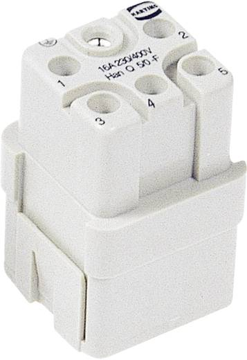 Businzetstuk Han Q 09 12 005 3101 Harting 5 + PE Crimp 1 stuks