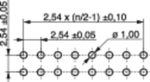 Female header (standaard) Aantal rijen: 2 Aantal polen per rij: 10 MPE Garry 094-2-020-0-NFX-YS0 160 stuks