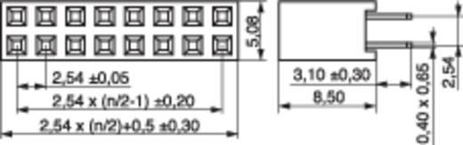 Female header (standaard) Aantal rijen: 2 Aantal polen per rij: 3 MPE Garry 094-2-006-0-NFX-YS0 520 stuks