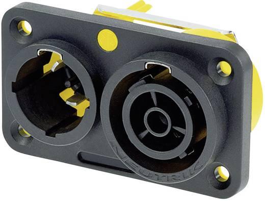 Neutrik NAC3PX Netstekker Stekker, inbouw verticaal, Bus, inbouw verticaal Totaal aantal polen: 2 + PE 16 A Zwart 1 stuks