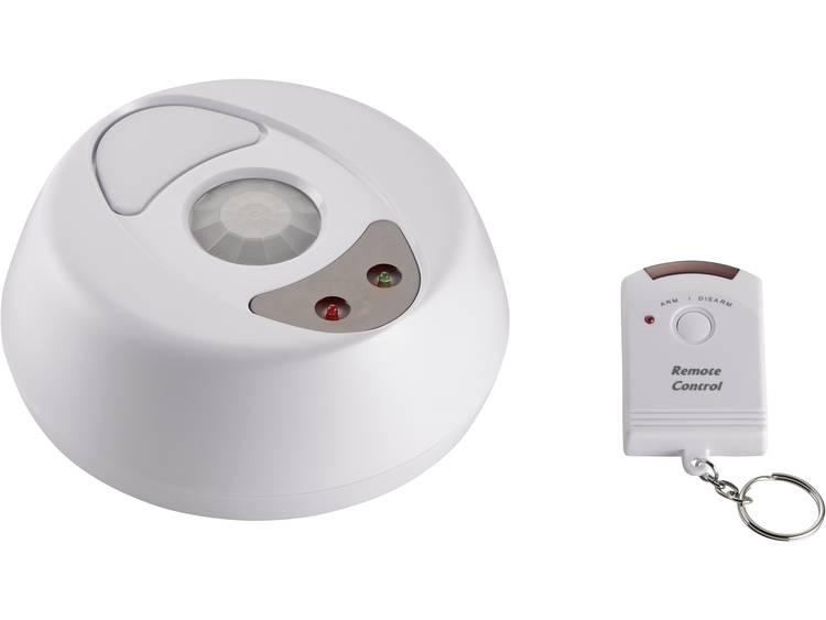 CE 360° plafondalarm met afstandsbediening 751041 Geluidsniveau 100 dB Detectiehoek 360 ° Detectiebe