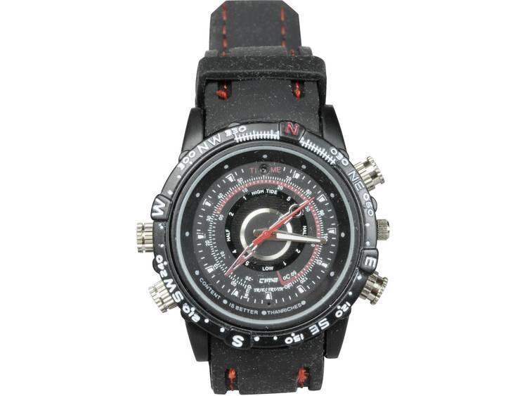Gecamoufleerde bewakingscamera in horloge met opnamefunctie 3.7 mm BS