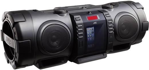 FM Ghettoblaster JVC Boomblaster AUX, Apple-dock, Bluetooth, CD, FM, USB Zwart