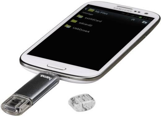 "Hama FlashPen ""Laeta Twin"" Extra USB-geheugen smartphone/tablet Grijs 16 GB USB 2.0, Micro-USB 2.0"