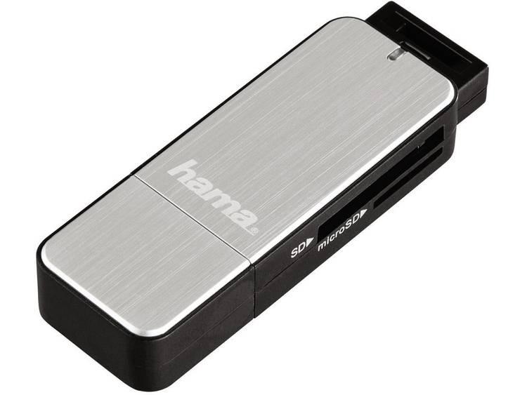 Hama 123900 Externe geheugenkaartlezer USB 3.0 Zilver