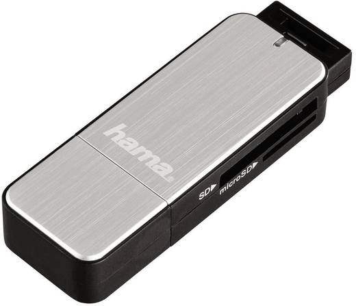 Hama Externe geheugenkaartlezer USB 3.0 Zilver