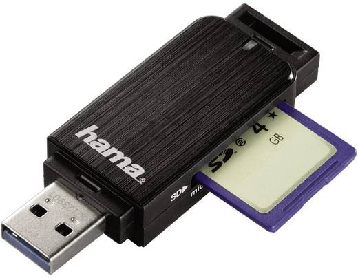 Hama 123901 Externe geheugenkaartlezer USB 3.0 Zwart