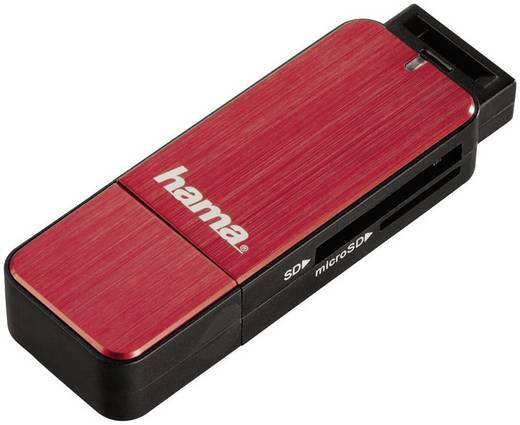 Hama Externe geheugenkaartlezer USB 3.0 Rood