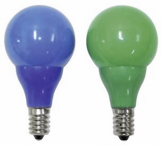 Konstsmide reservelamp kerstmis 24 V E14 0.24 W Blauw, Groen (bedrukt)
