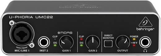 Audio interface Behringer UMC22 audio-interface Monitor-controlling
