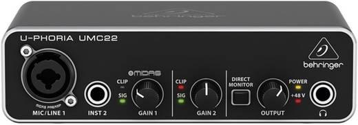 Audio interface Behringer UMC22 audio-interface Monitor-con