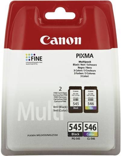 Canon Inkt PG-545 / CL-546 Origineel Combipack Zwart, Cyaan, Magenta, Geel 8287B005
