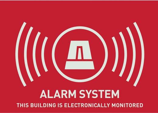 ABUS AU1315 Waarschuwingssticker Alarmsysteem Taal: Engels (b x h) 74 mm x 53 mm