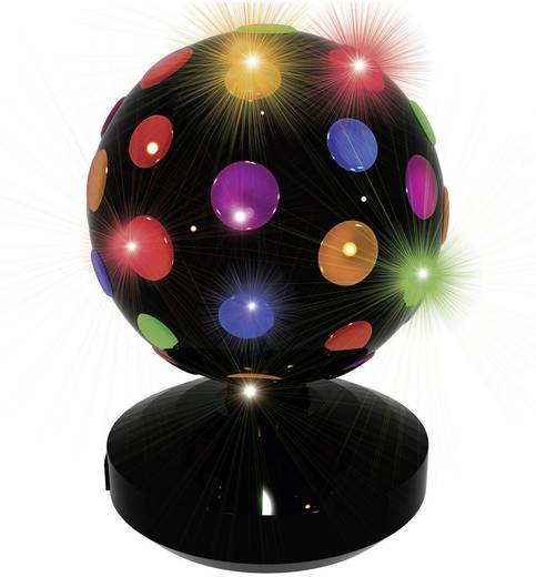 Feestverlichting LED-discobol Ø 18,5 cm 71.134 Zwart LED vast ingebouwd