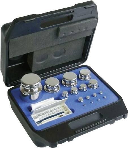 Kern 324-644 F1 gewichtenset, 1 g - 200 g messing vernikkeld, in kunststof koffer