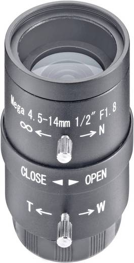 Lens voor bewakingscamera Brandpuntsafstand 4,5 - 14 mm Kijkhoek 62 - 22 ° Sygonix 43191R