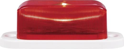 Alarm-flitslicht Rood Binnen, Buiten 12 V/DC, 24 V/