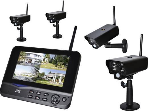 Draadloze bewakingsset 4-kanaals Met 4 camera's dnt 52201