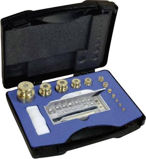 Kern 343-484 M1 gewichtenset, 1 mg - 5 kg, messing fijngedraaid, in kunststof etui
