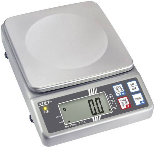 Kern FOB 3K1 Brievenweegschaal Weegbereik (max.) 3 kg Resolutie 1 g werkt op het lichtnet, werkt op een accu Zilver