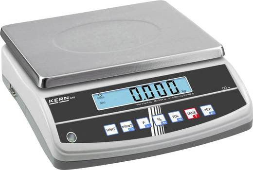 Kern Tafelweegschaal Weegbereik (max.) 15 kg Resolutie 2 g werkt op het lichtnet, werkt op een accu Zilver