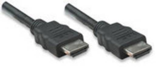 HDMI Aansluitkabel Manhattan 323246-CG [1x HDMI-stekker - 1x HDMI-stekker] 10 m Zwart