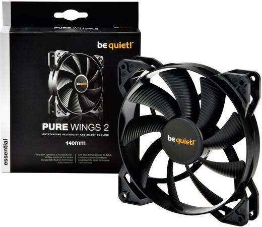 BeQuiet PURE Wings 2 140 mm PC ventilator (b x h x d) 140 x 140 x 25 mm