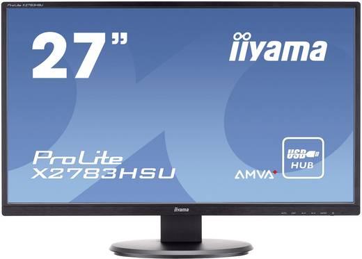 Iiyama X2783HSU-B1 LED-monitor 68.6 cm (27 inch) Energielabel B 1920 x 1080 pix Full HD 4 ms VGA, DVI, HDMI, USB 2.0 AMVA+ LED