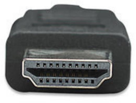 HDMI Aansluitkabel Manhattan 323215-CG [1x HDMI-stekker - 1x HDMI-stekker] 2 m Zwart