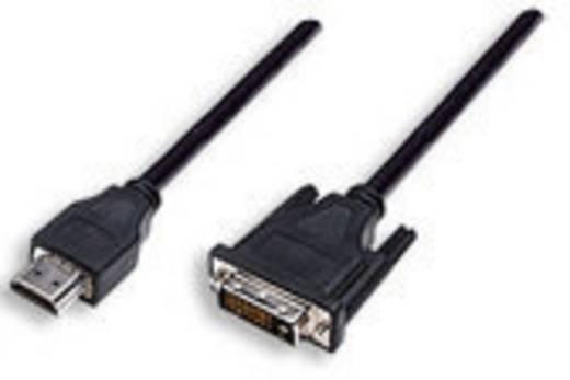 HDMI / DVI Aansluitkabel Manhattan 372503-CG [1x HDMI-stekker - 1x DVI-stekker 24+1-polig] 1.80 m Zwart