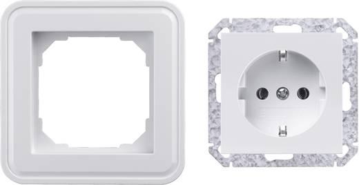 Sygonix Inbouw Stopcontact met randaarde SX.11 Sygonix-wit, glanzend 33596X + 33598R