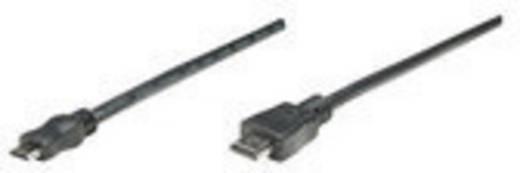 Manhattan HDMI Aansluitkabel [1x HDMI-stekker - 1x HDMI-stekker C mini] 1.80 m Zwart