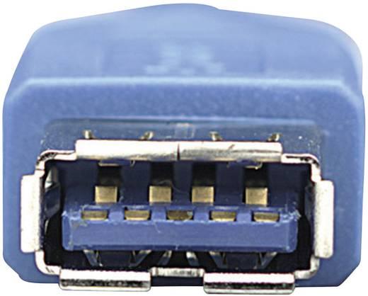 Manhattan USB 3.0 Verlengkabel [1x USB 3.0 stekker A - 1x USB 3.0 bus A] 3 m Blauw Vergulde steekcontacten, UL gecertificeerd