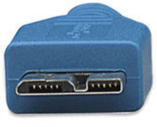 Kabel USB 3.0 Manhattan [1x USB 3.0 stekker A - 1x USB 3.0 stekker micro B] 2 m Blauw