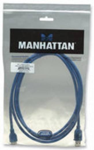 Manhattan USB 3.0 Aansluitkabel [1x USB 3.0 stekker A - 1x USB 3.0 stekker micro B] 2 m Blauw Vergulde steekcontacten, UL gecertificeerd