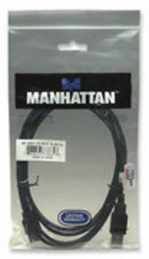 Manhattan USB 2.0 Verlengkabel [1x USB 2.0 stekker A - 1x USB 2.0 bus A] 1.80 m Zwart Vergulde steekcontacten, UL gecertificeerd