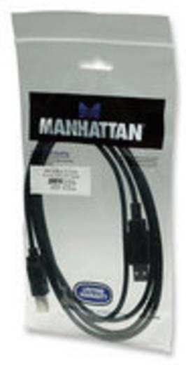 Manhattan USB 2.0 Aansluitkabel [1x USB 2.0 stekker A - 1x USB 2.0 stekker B] 1.80 m Zwart Vergulde steekcontacten, UL g