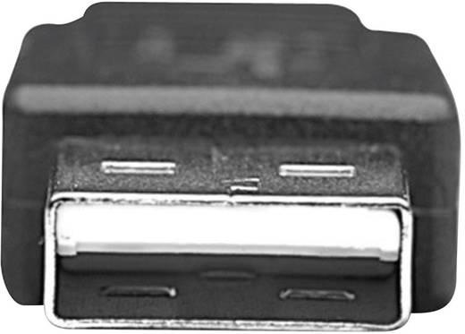 Manhattan USB 2.0 Aansluitkabel [1x USB 2.0 stekker A - 1x USB 2.0 stekker micro-B] 0.50 m Zwart Vergulde steekcontacten
