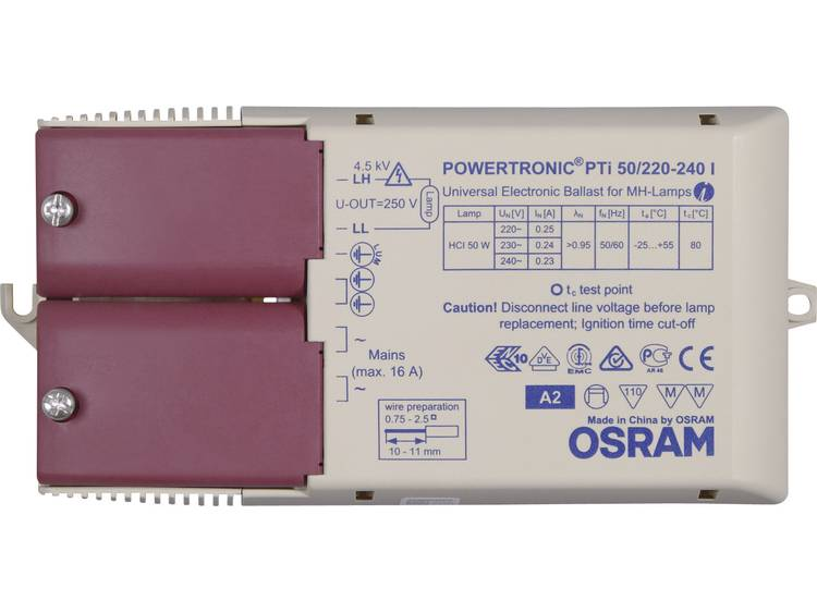 PTi 50-220-240 I Electronic ballast 1x50W PTi 50-220-240 I