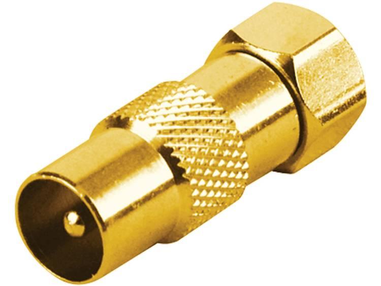 Schwaiger Schwaiger Adapter F-stekker-Koax-stekker Gold (GOUST9310537)