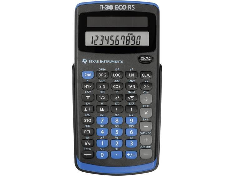 Schoolrekenmachine Texas Instruments TI-30 ECO RS Zwart Aantal displayposities: 10 werkt op zonne-energie