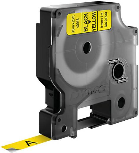 DYMO 40918 Labeltape Tapekleur: Geel Tekstkleur: Zwart 9 mm 7 m
