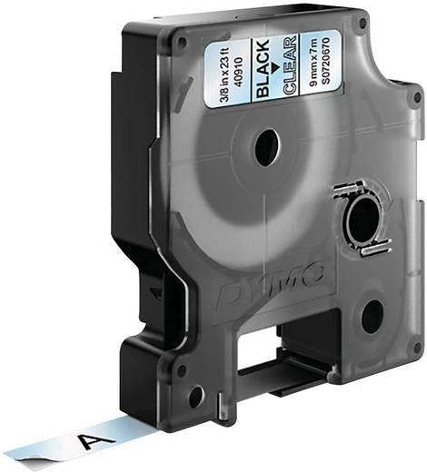 DYMO 40910 Labeltape Tapekleur: Transparant Tekstkleur:Zwart 9 mm 7 m