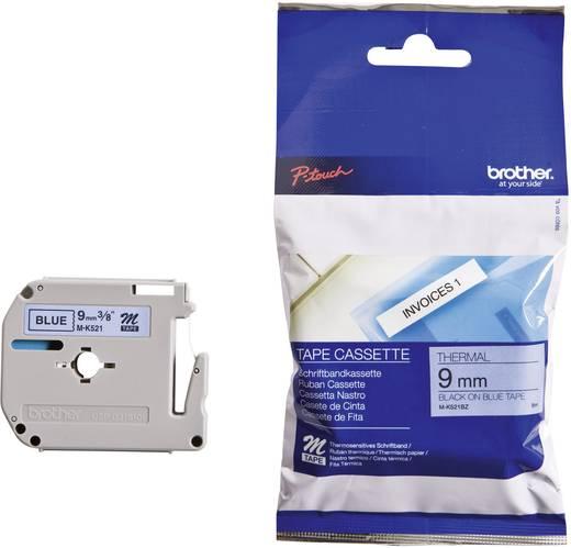 Brother M-K521 Labeltape Tapekleur: Blauw Tekstkleur: Zwart 9 mm 8 m