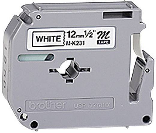 Brother M-K231 Labeltape Tapekleur: Wit Tekstkleur: Zwart 12 mm 8 m