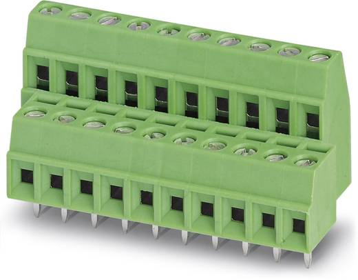 Dubbeldeksklem 1.00 mm² Aantal polen 8 MKKDS 1/ 4-3,5 Phoenix Contact Groen 50 stuks