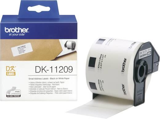 Brother Etiketten (rol) 62 x 29 mm Papier Wit 800 stuks Permanent DK11209 Adresetiketten