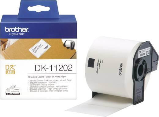 Brother Etiketten (rol) 100 x 62 mm Papier Wit 300 stuks Permanent DK11202 Verzendetiketten