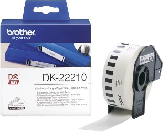 Brother Etiketten (rol) 29 mm x 30.48 m Papier Wit 1 rollen Permanent DK22210 Universele etiketten