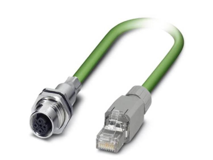 Netwerkkabel M12 / RJ45 CAT 5, CAT 5e SF/UTP 1 m Groen Phoenix Contact